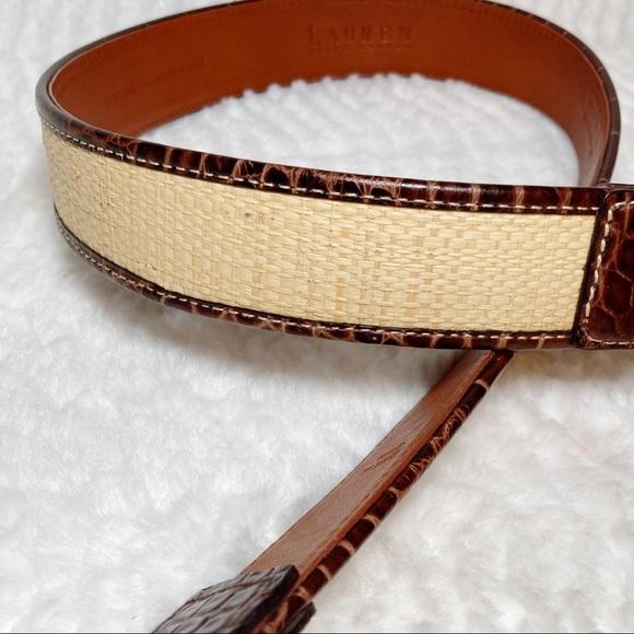 Ralph Lauren Accessories | Ralph Lauren White Leather Belt